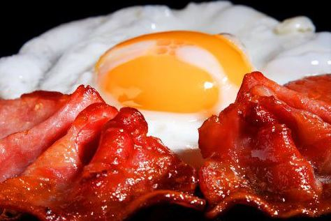 Bacon and eggs a great meal full of good fats and vitamins!